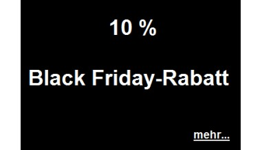 10 % Black Friday Rabatt